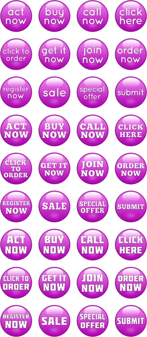glossy purple call-to-action buttons